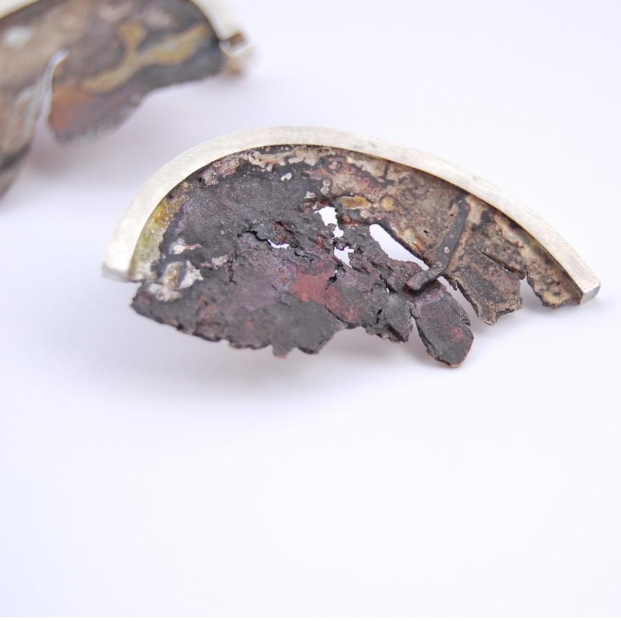 Small landscape earrings