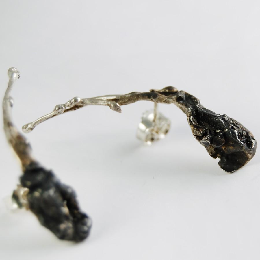 Climbing bindweed earrings