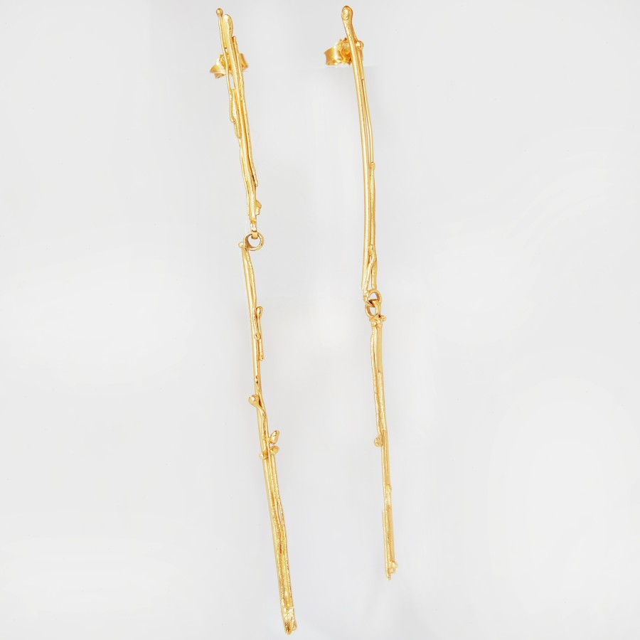 Golden Icicle earrings